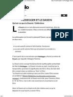 Heidegger Et Le Dasein