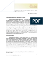 Res_01_15 Lukács a Teoria Do Ramance Resumo