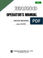 Furuno NX500 operator manual