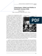 Citizens Sportsmen Fútbol and Politics in Century XX Chile - Reseña