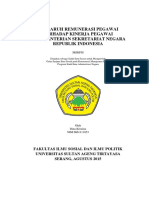 Pengaruh Remunerasi Pegawai Terhadap Kinerja Pegawai Di Kementerian Sekretariat Negara Republik i - Copy