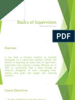 Basics of Supervision