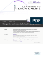 Using Online Enviroments for Teaching