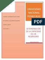 Determinación del Volumen de un Reservorío - Final Saneamiento