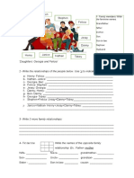 Family Members and Apostrophe s Grammar Drills Picture Description Exercises 108539