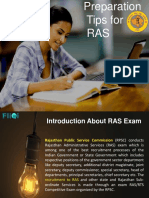 Preparation Tips for RAS