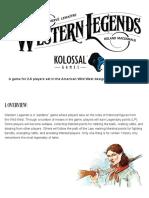 Western Legends Rulebook
