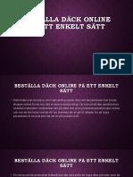 Beställa Däck Online På Ett Enkelt Sätt
