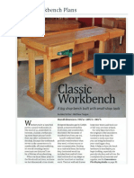 Classic Workbench Plans, Wood Archivist, Por Matthew Teague