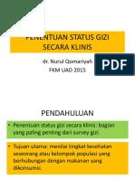 Penentuan Status Gizi Secara Klinis