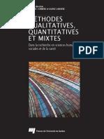 Methodes Qualitatives Quantitatives Et Mixtes
