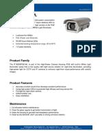 IT-SD6XPOE-WL - Camera Housing POE with built-in White Light Illuminator