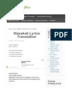 Masakali Lyrics Translation - English Translations and Meaning of hindi songs |