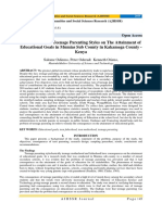 Consequences of Teenage Parenting Styles on The Attainment of Educational Goals in Mumias Sub County in Kakamega County – Kenya