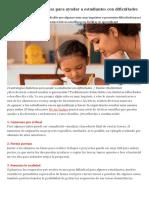 15 Estrategias Didácticas Para Ayudar a Estudiantes Con Dificultades