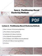 Lecture 3. Partitioning-Based Clustering Methods
