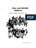 Criminal Law Review Digests