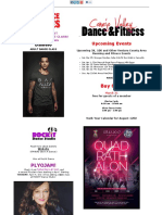 New Dance Fitness Classes and Events