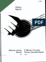 MORENO TORROBA, Federico - Pièces Caracteristiques