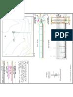 General arrangement drawing of bridge in intake well drawing