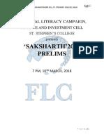 Saksharth Prelims 2018