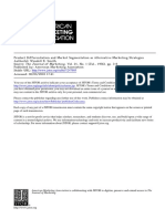 Product Differentiation and Market Segmentation as Alternative Marketing Strategies
