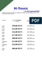 M-tronic Baterii Black Ianuarie 2018
