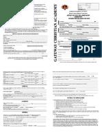 Elementary Enrollment Application 2018-2019