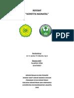 Neonatal Hepatitis