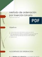 Método de Ordenación Por Inserción Binaria