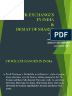 Stock Exchanges in India Final