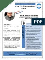 Engr. Haji Sajjad Khan Brochure