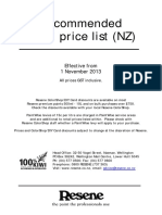 NZ Retail Price List for Paint