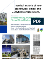 Peadar Mcging Biochemical Analysis of Non Standard Fluids Clinical and Analytical Considerations