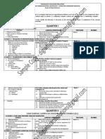 Budget of Work Chs-grade 10 Quarter1-4