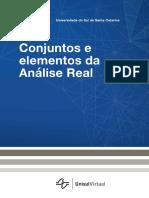 Conjuntos e elementos de análise real - unisul