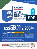 DAF Promo AceiteMotor