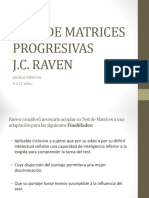 Test de Matrices Progresivas de Raven Escala Especial.ppt