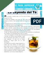 Ficha La Leyenda Del Te Para Cuarto de Primaria