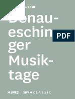 Doanueschinger MusikTage 2018