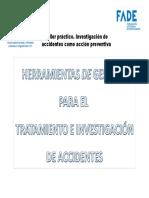 Ponencia. Herramientas de Gestión Para El Tratamiento de La Investigación de Accidentes