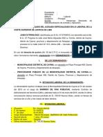Demanda de Desnaturalizacion de Contrato (Obrero)