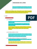 Resumen - Periodismo en El Perú