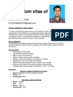 Curriculum Vitae of Obaidul