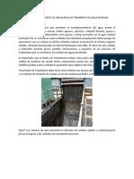 Tren de Tratamiento de Una Planta de Tramiento de Agua Residual
