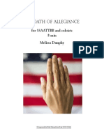 The Oath of Allegiance (SATB)
