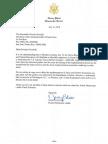 Carta de Pelosi a Ricardo Rosselló