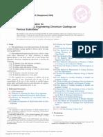 b 650-95_ Especificaciones Estándar Para Revestimientos de Ingeniería Electrodeposita Cromo Sobre Sustratos Ferrosos