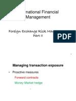 BACC 31352- Exchange Rate Exposure-II