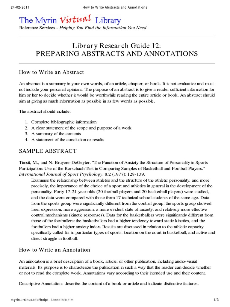how to write a book abstract